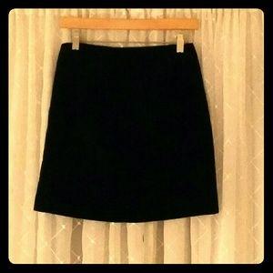 GAP Black Velvet Mini Skirt
